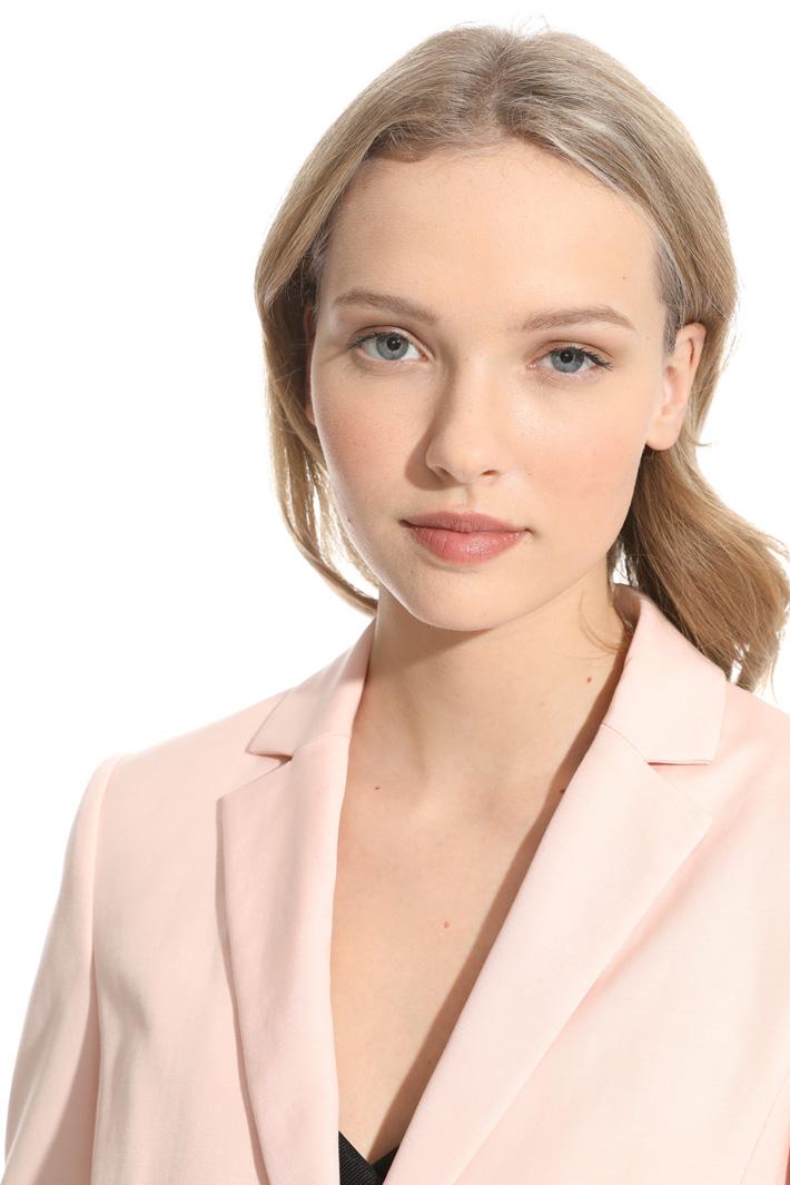 Blazer con impunture in vita Fashion Market