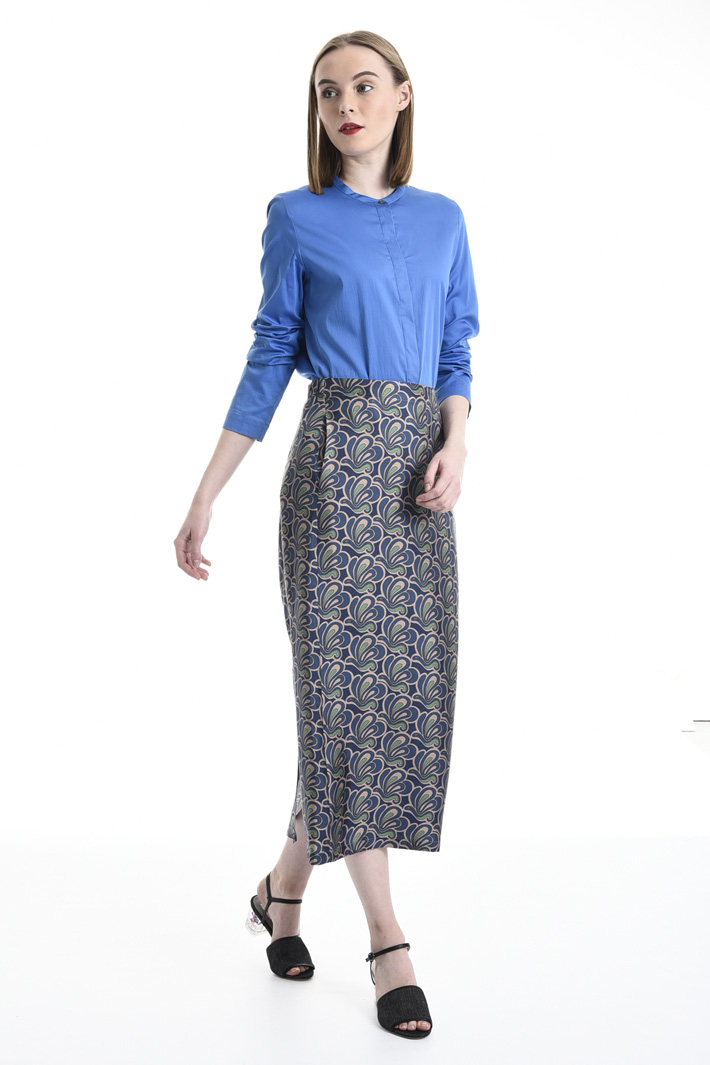 Camicia in raso di cotone Fashion Market