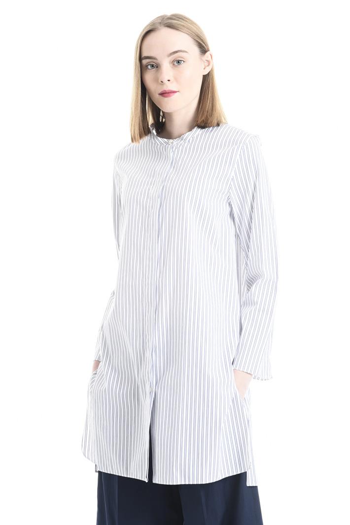 Camicia in popeline a righe Fashion Market