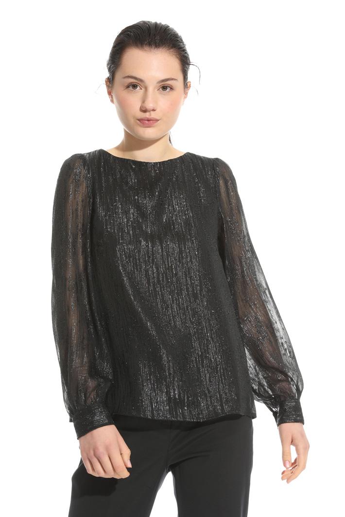 Blusa in fil coupè lamè Fashion Market