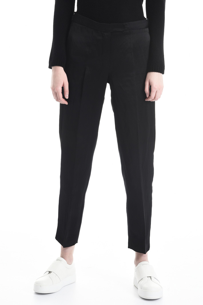Pantalone a sigaretta in raso Fashion Market