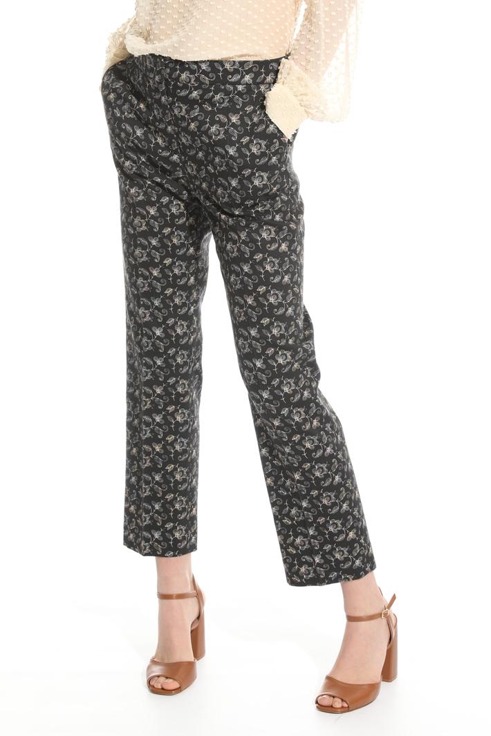 Pantalone in piquet stretch Fashion Market