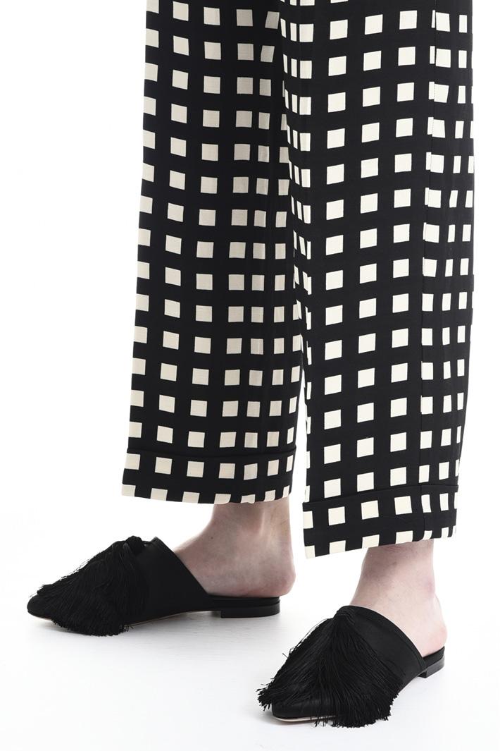 Pantalone in fluido armaturato Fashion Market