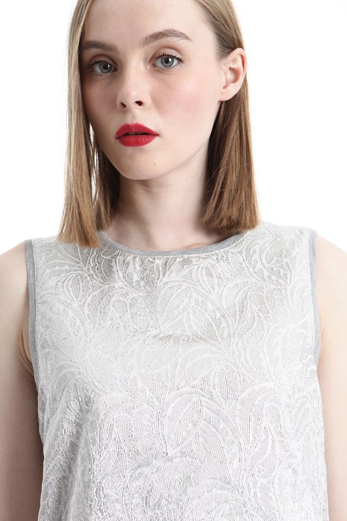 Top in jacquard lamé Fashion Market