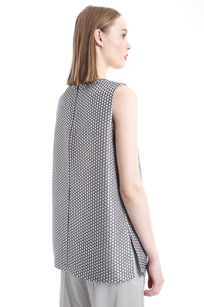 Top in jacquard con ricami Fashion Market