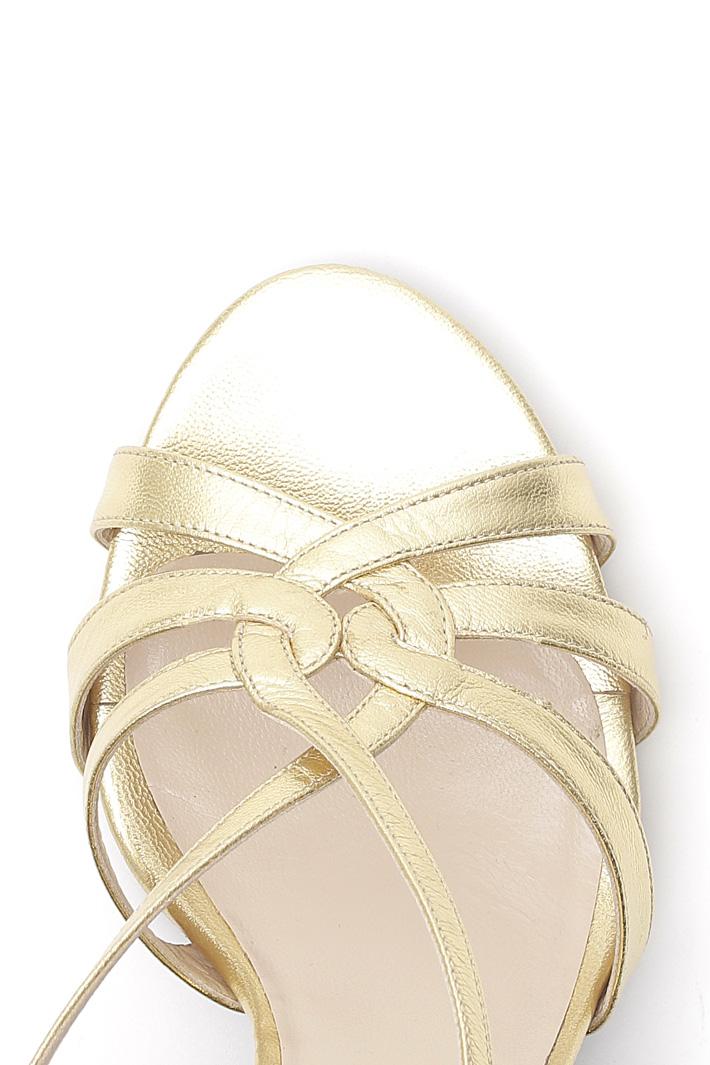 Sandali in pelle metallizzata  Fashion Market