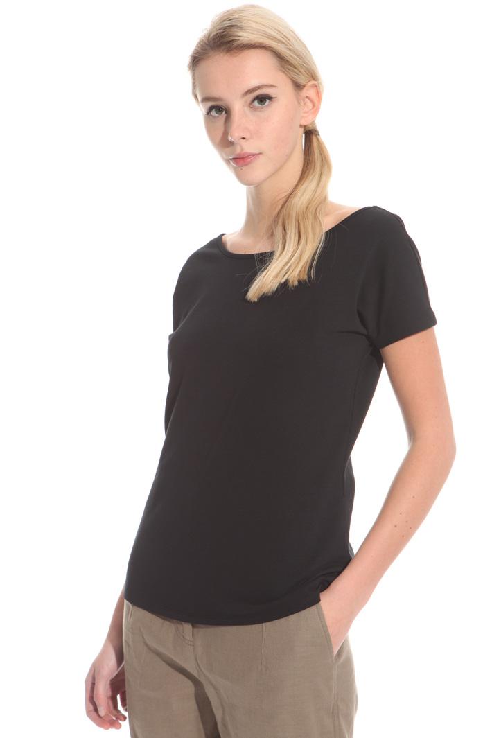 T-shirt con scollo ampio Fashion Market