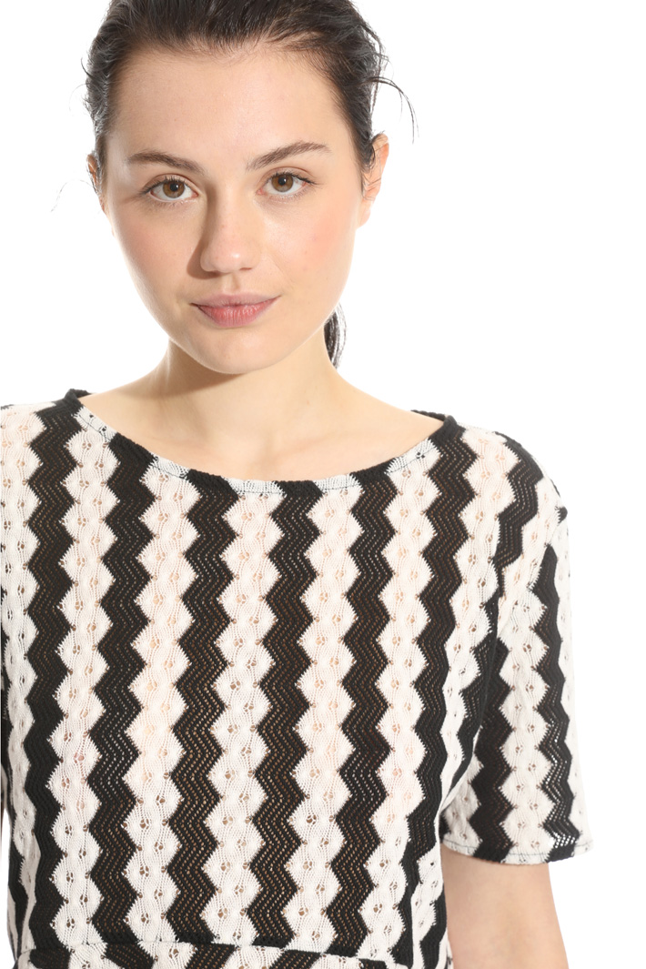 Blusa in jersey effetto pizzo Fashion Market