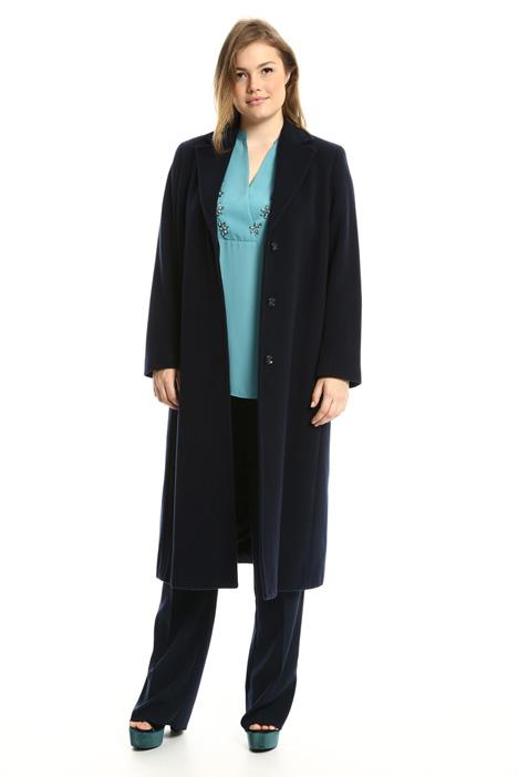 Cappotto lungo in drap di lana Fashion Market