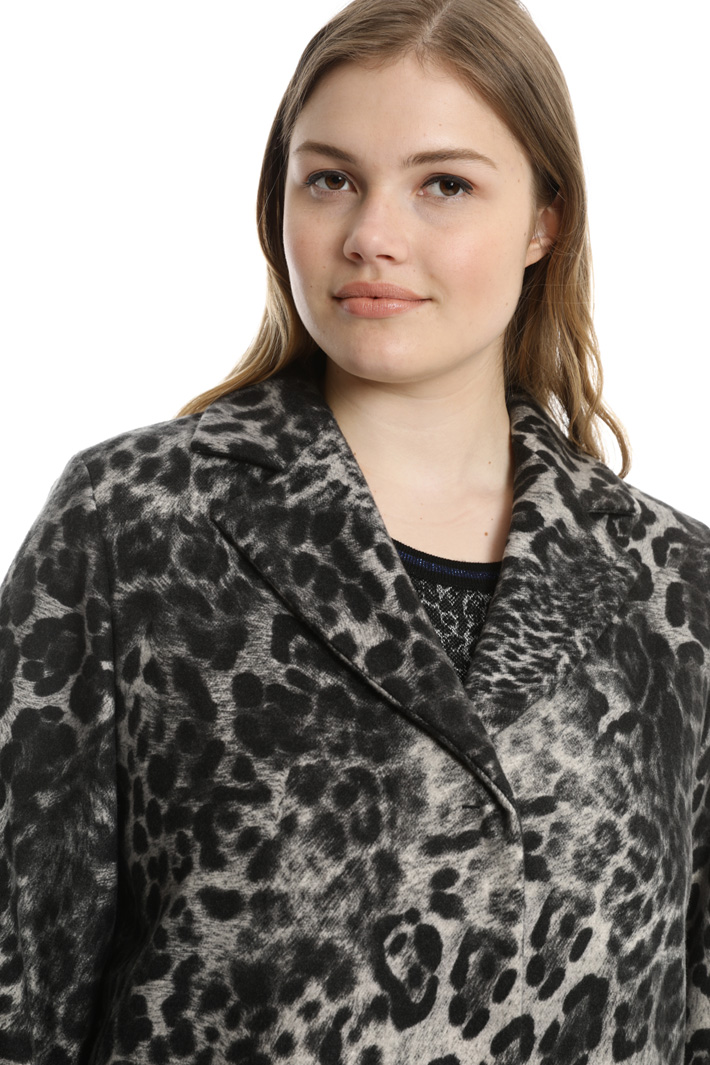 Cappotto in panno animalier Fashion Market
