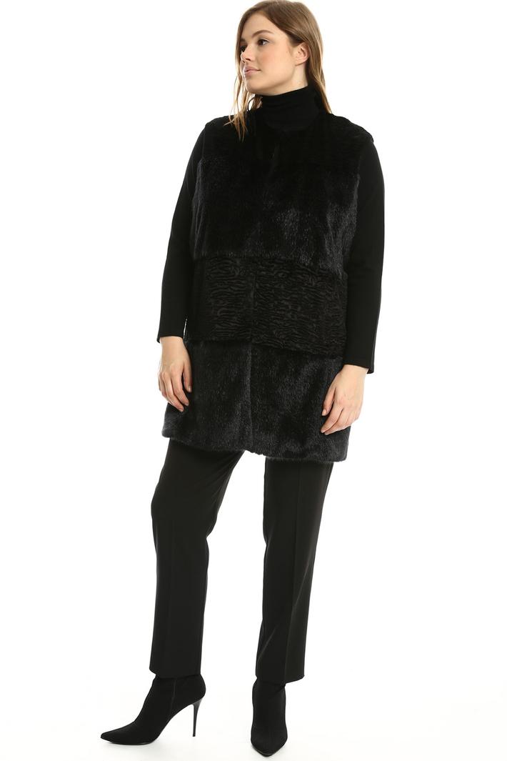 Gilet lungo effetto pelliccia Fashion Market
