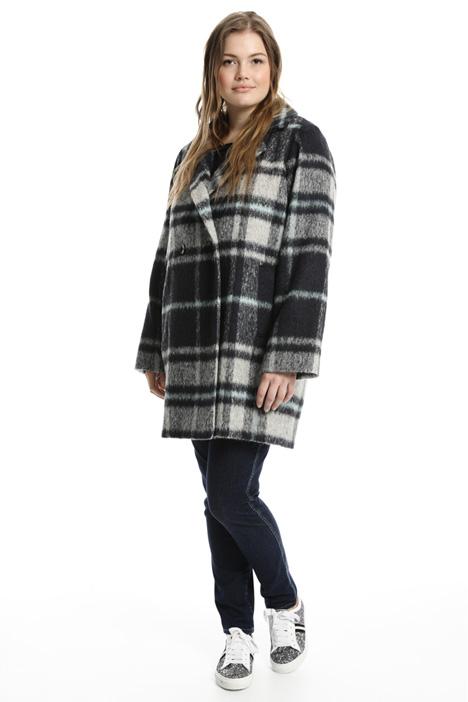 Cappotto check in alpaca Fashion Market