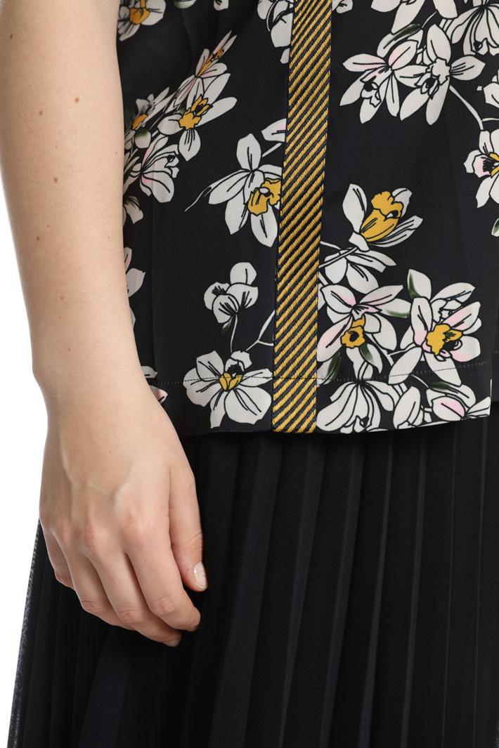 Casacca in cady stampato Fashion Market