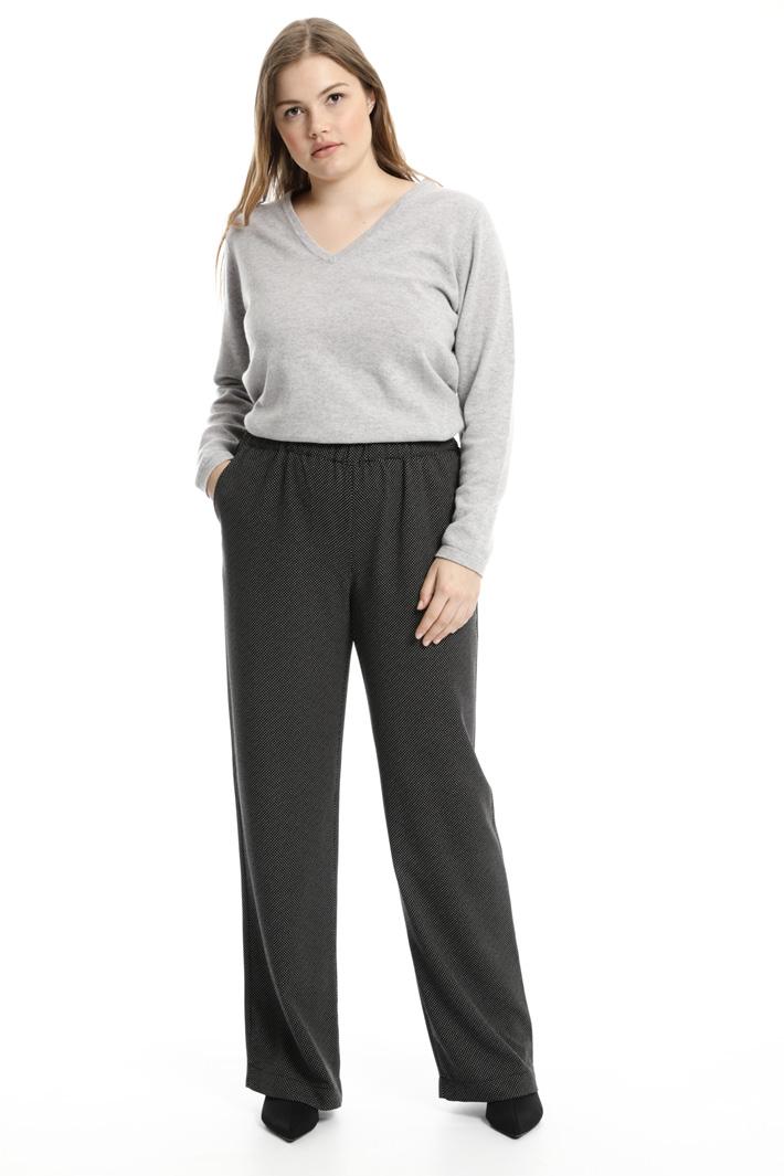 Pantaloni in fluido stampato Fashion Market