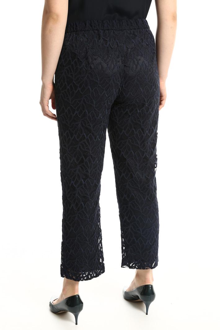 Pantalone in pizzo rebrodé Fashion Market