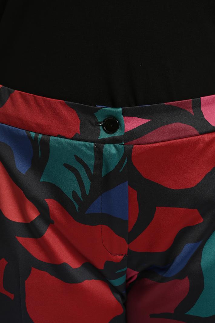 Pantaloni in raso stampato Fashion Market