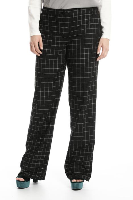 Pantalone dritto in flanella Fashion Market