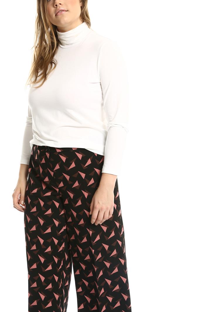Pantaloni in cady stampato Fashion Market