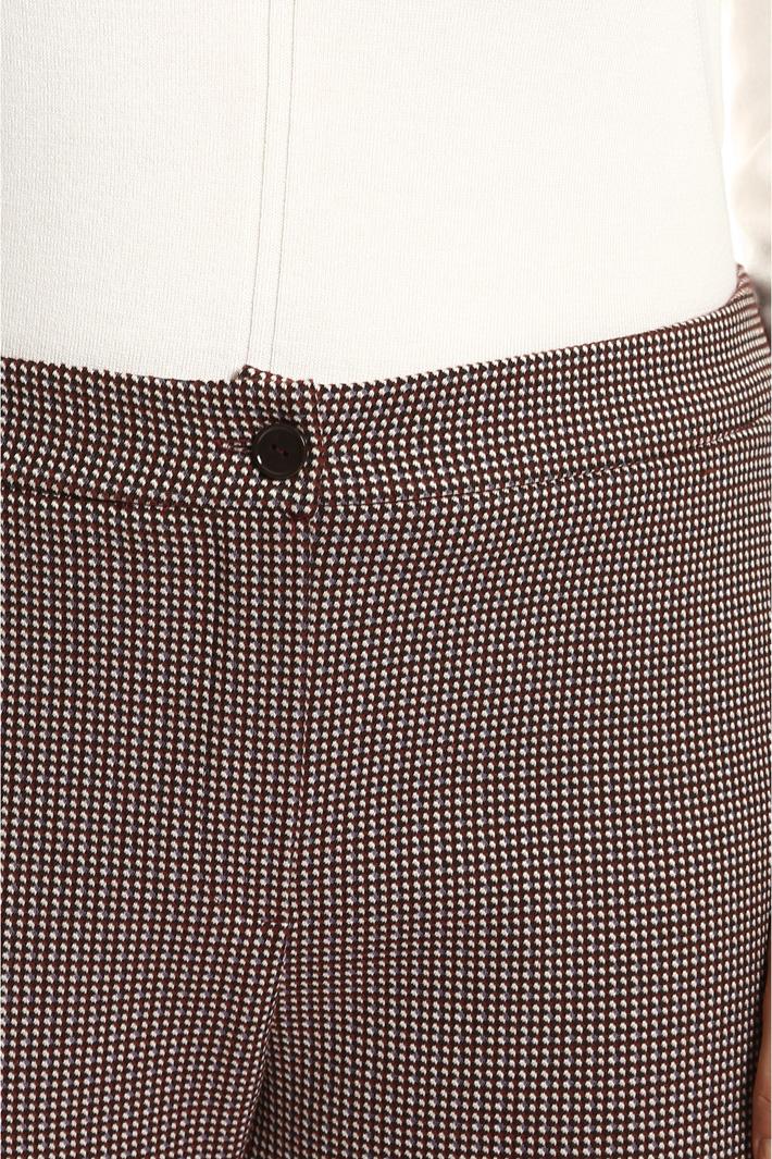 Pantaloni flare jacquard Fashion Market