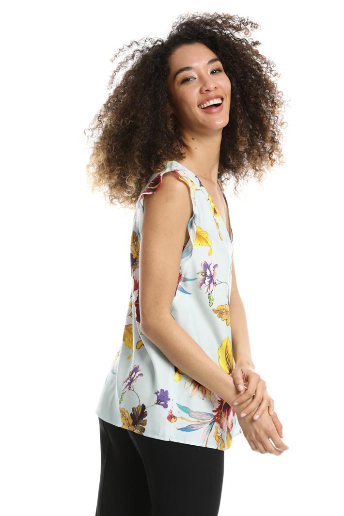 Top in twill di viscosa Fashion Market