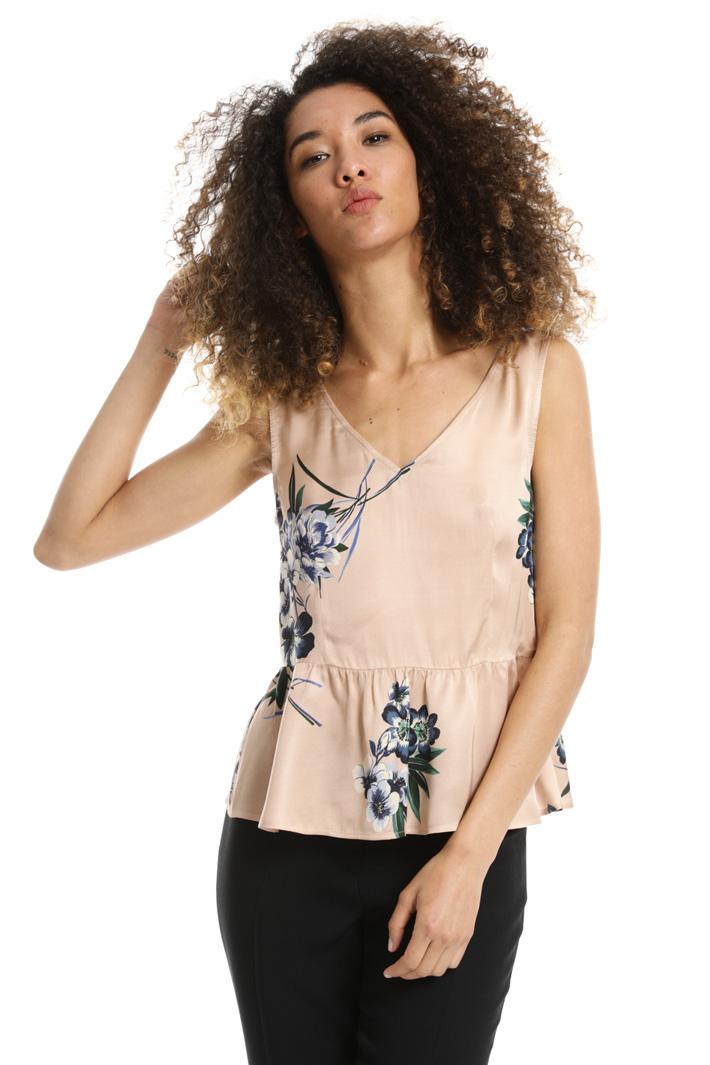 Top peplo in raso Fashion Market