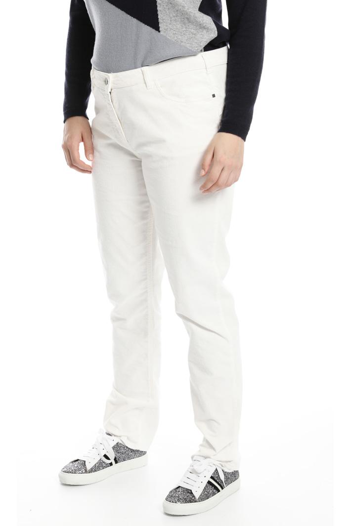 Pantaloni in velluto stretch Fashion Market