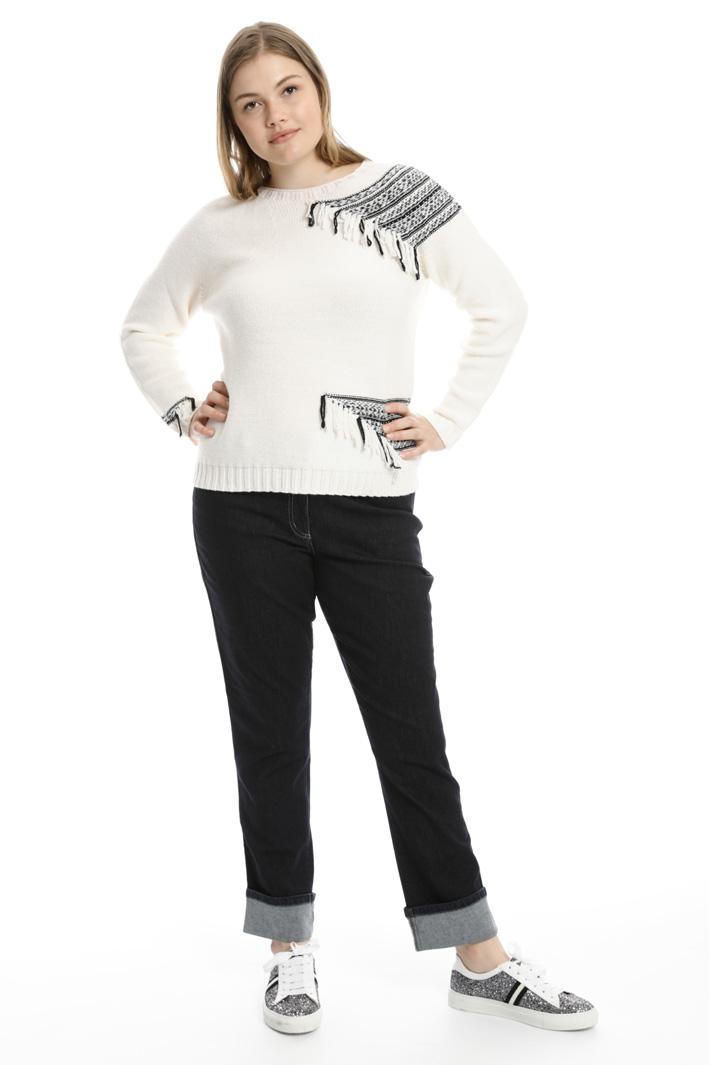 Jeans lungo con risvolto Fashion Market