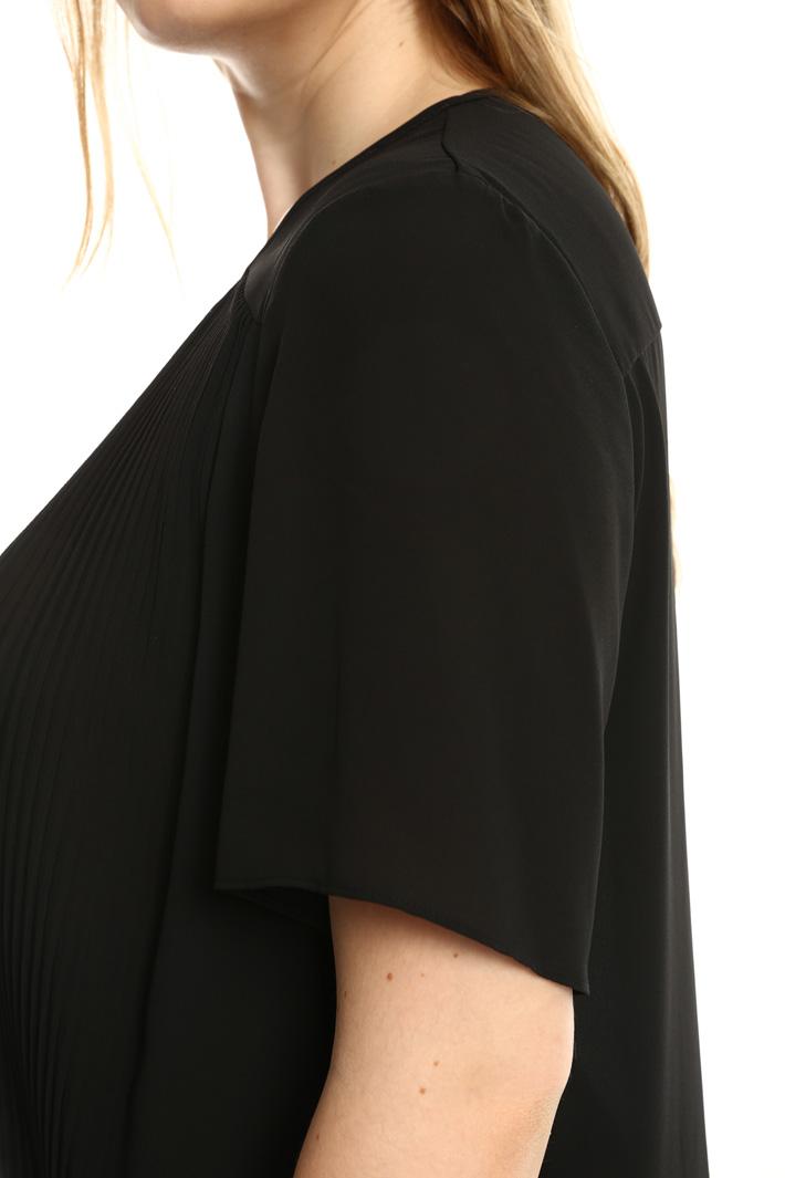 Top con pannello plissé Fashion Market