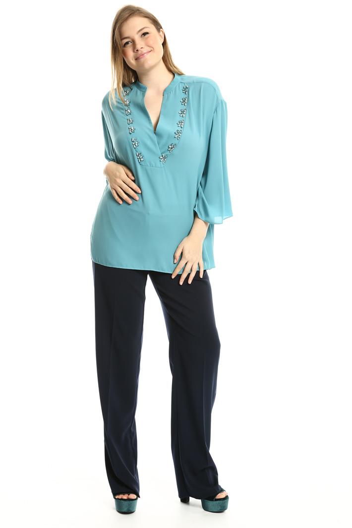 Blusa con ricamo gioiello Fashion Market