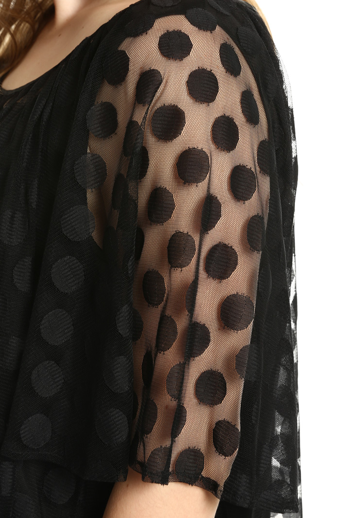 Top in tulle jacquard Fashion Market