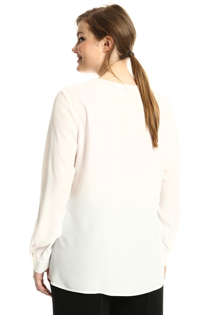Blusa in crepe di misto seta Fashion Market