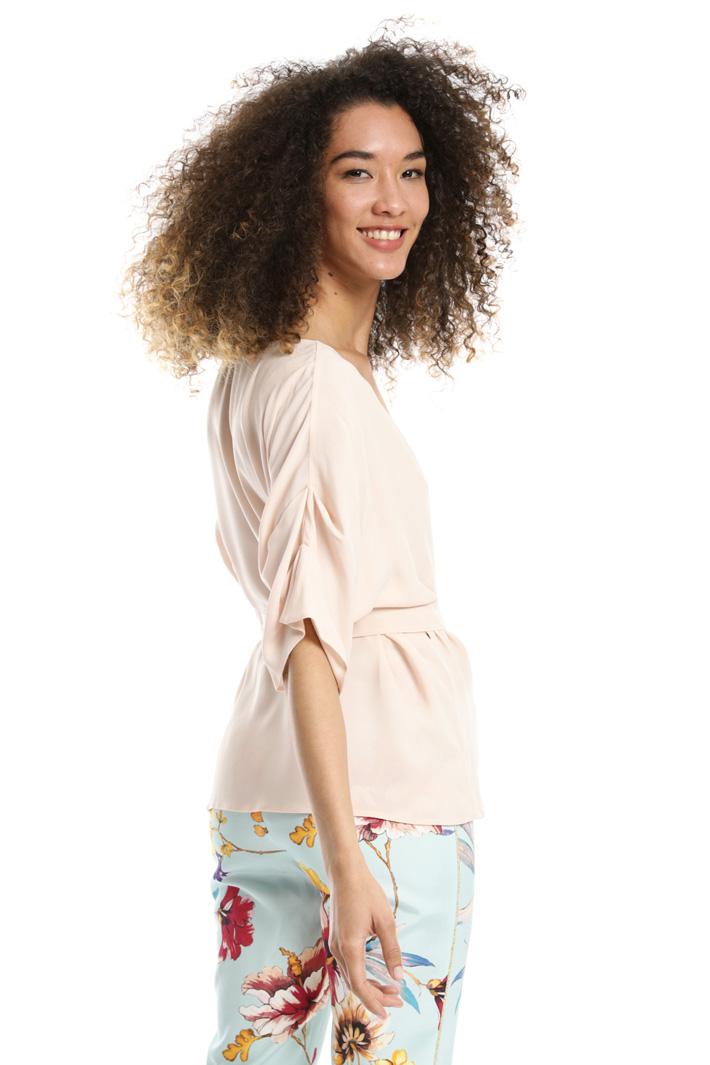 Top a portafoglio in georgette Fashion Market