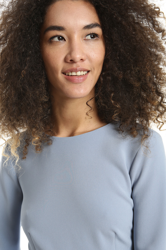 Blusa peplo in triacetato Fashion Market