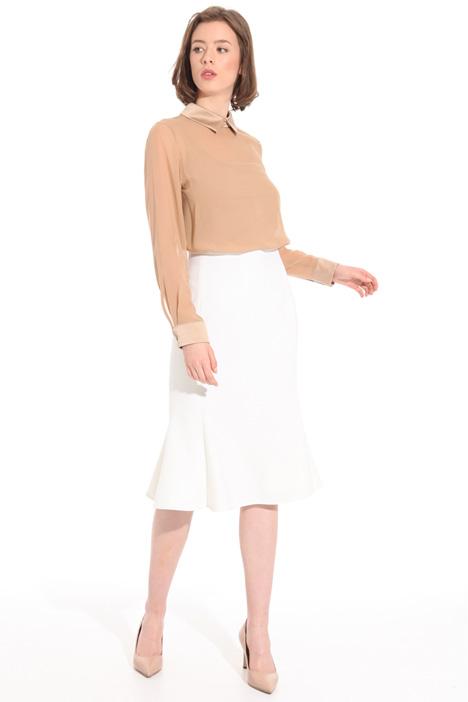 Blusa in georgette e raso Fashion Market
