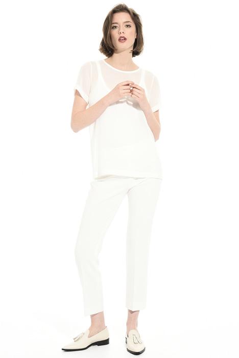 Blusa in georgette di seta Fashion Market