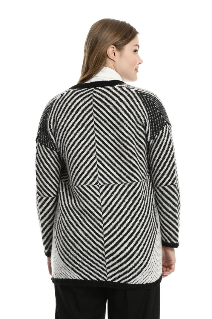 Cardigan jacquard rigato Fashion Market