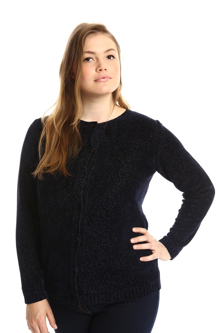 Cardigan in ciniglia lurex Fashion Market
