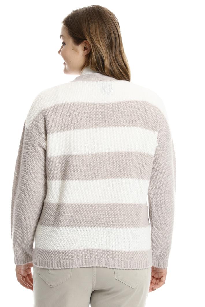 Cardigan rigato in misto lana Fashion Market