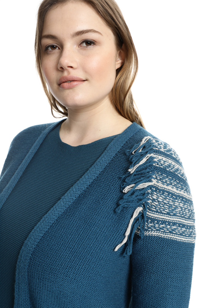 Cardigan in lana con frange Fashion Market