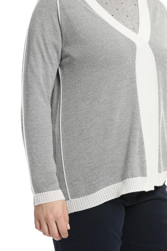 Cardigan in maglia punto links Fashion Market
