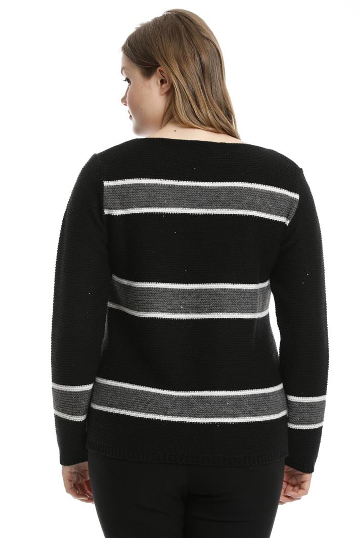 Maglia in lana con paillettes Fashion Market