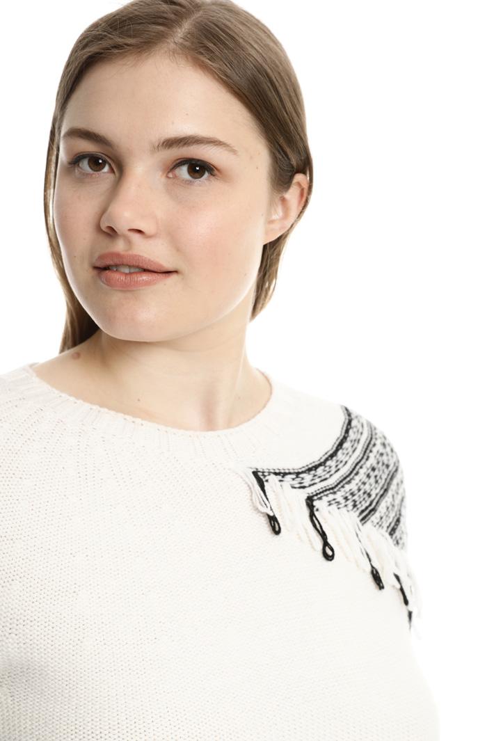 Pullover con frange Fashion Market