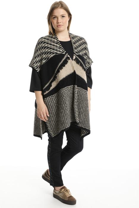 Poncho in lana jacquard Fashion Market