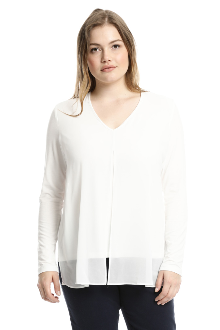 T-shirt con pannello georgette Fashion Market