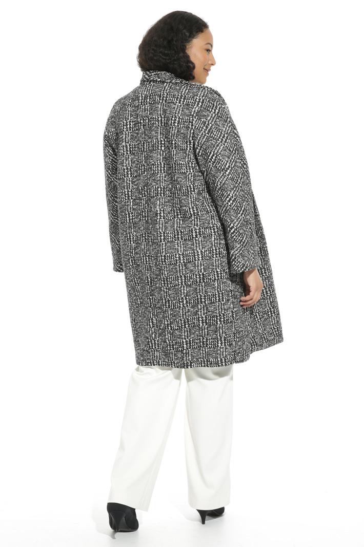 Cappotto tinto filo in jersey Fashion Market
