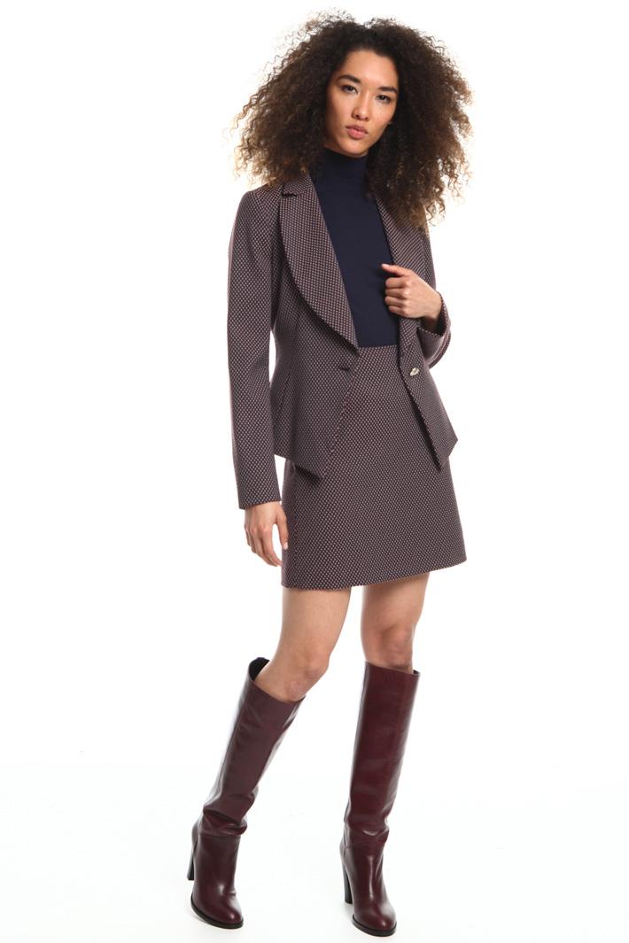 Blazer con revers arrotondato Fashion Market