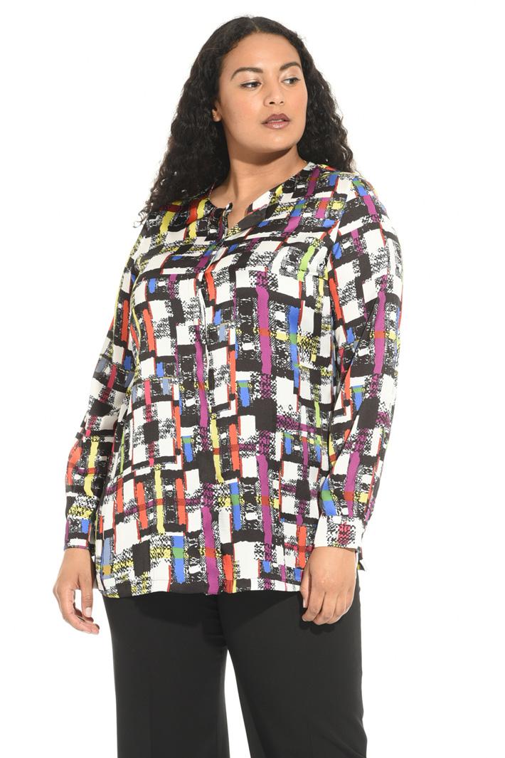 Camicia girocollo in raso Fashion Market
