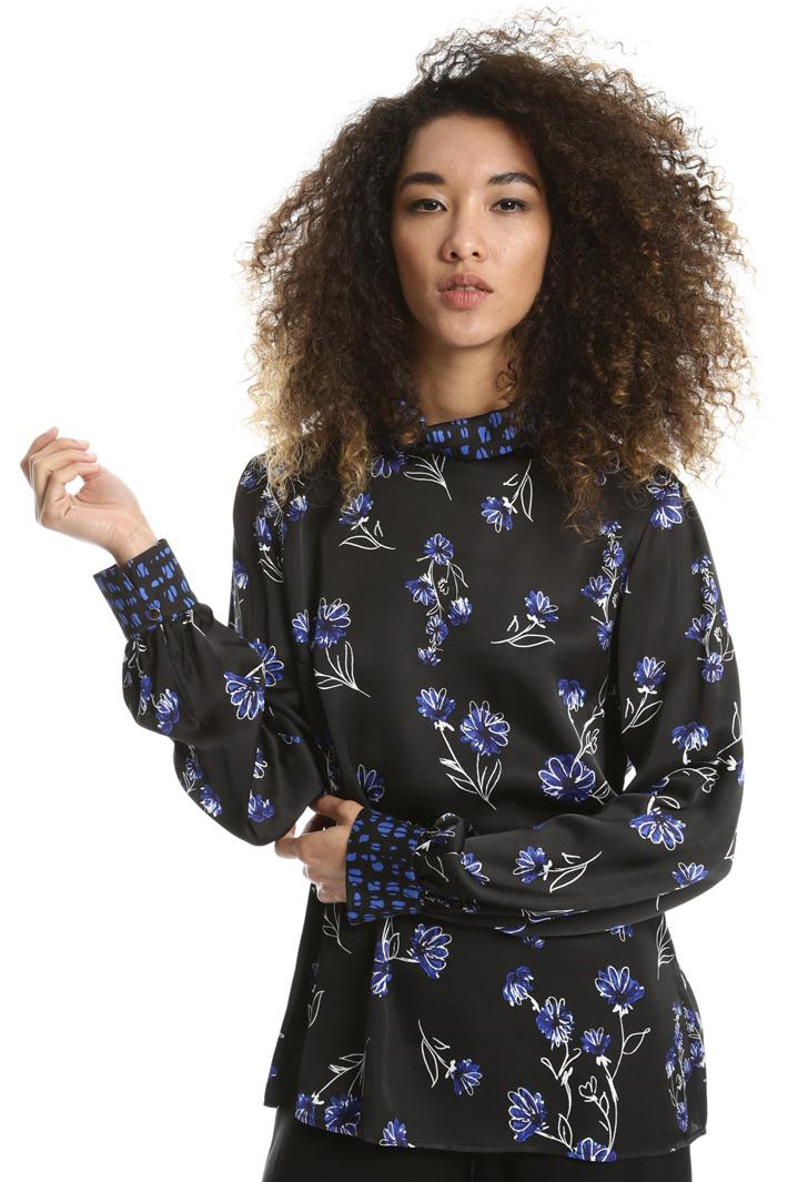 Blusa con collo ad anello Fashion Market