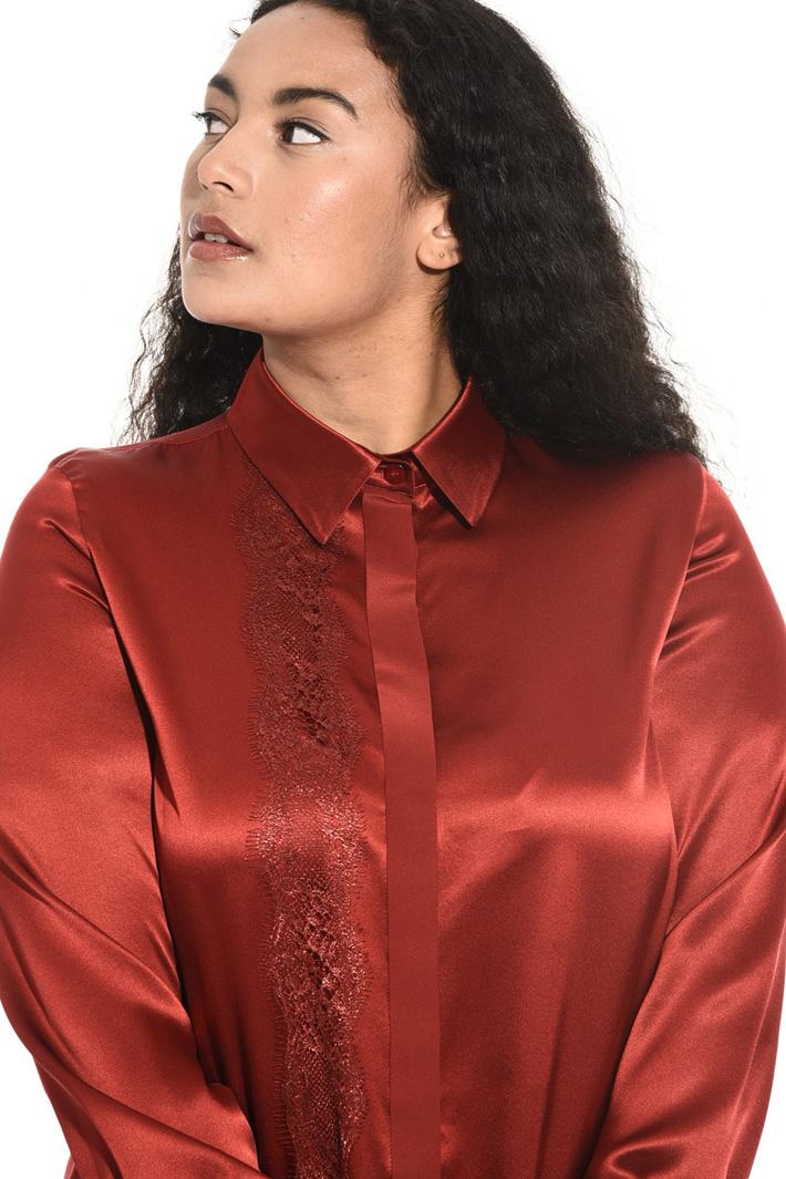 Camicia in raso di seta Fashion Market