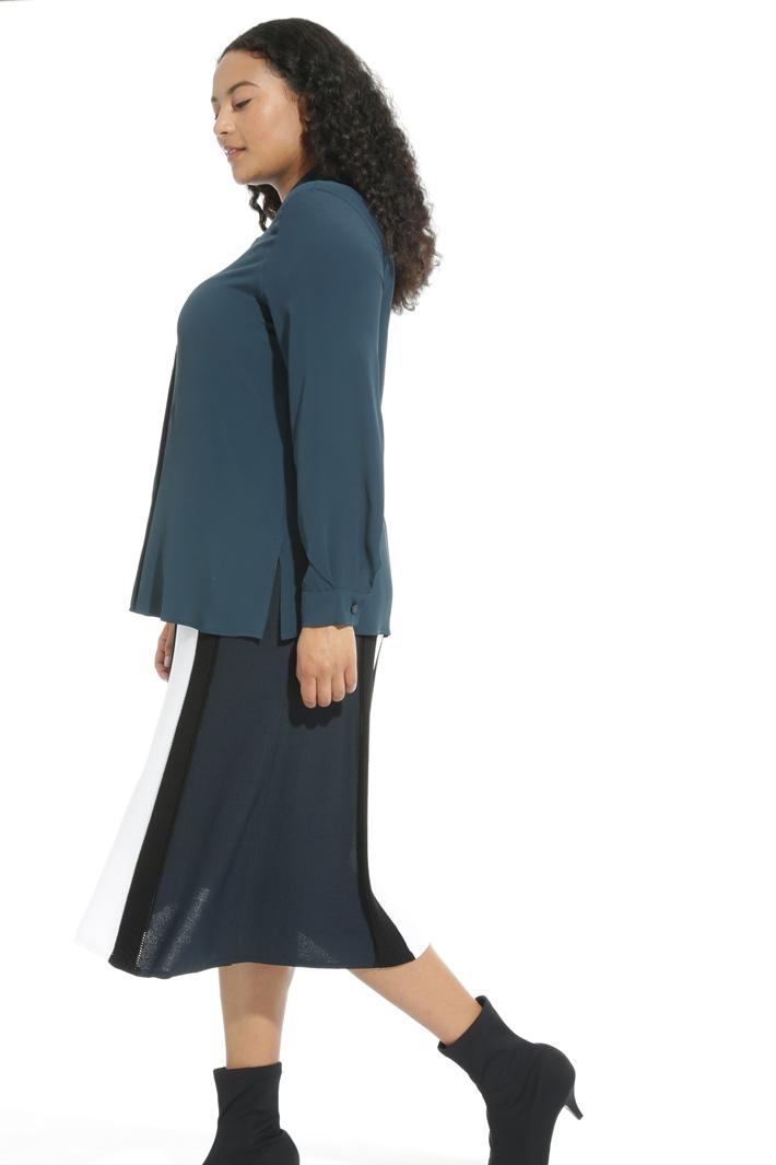 Camicia in seta con ricamo Fashion Market